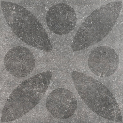 Hormigon Leaf Antracite Decor 60x60